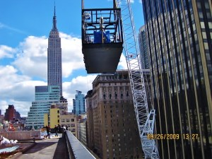 For this project, Budco utilized a crane to rig equipment for a co-generation plant on the roof of 1 Penn Plaza.