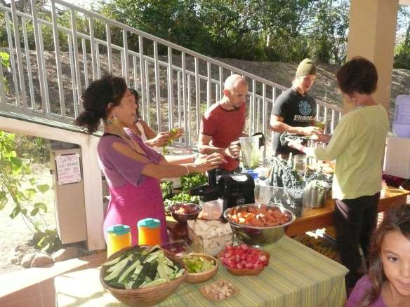 Raw Food Prep at our ARUN Touch of Meditation Experience last summer in Vilcabamba... que rico!