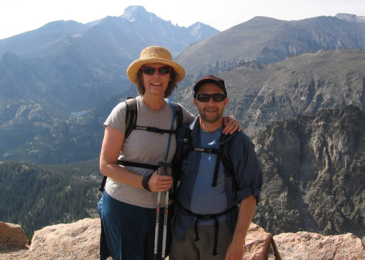 Diana and Don with Longs Peak behind