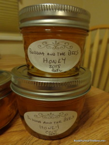 Part of the honey harvest from BnB2