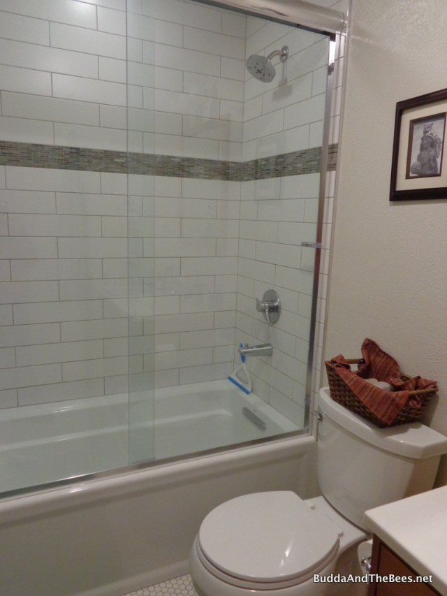 New shower/tub in guest bathroom