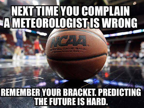 The meteorologists don't always get it right.