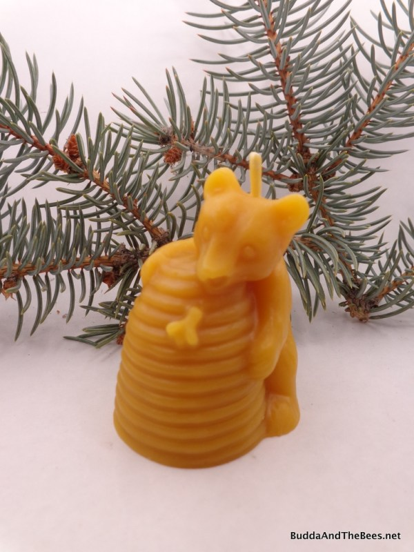 Buddha And The Bees Little Bear and Skep Candle