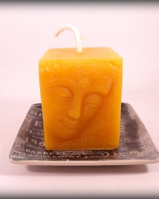 Buddha And The Bees 100% Pure Beeswax Buddha Face Candle