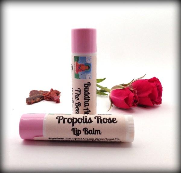 Buddha And The Bees Propolis Rose Lip Balm