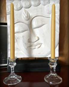 Buddha And The Bees 100% Pure Beeswax Hand Dipped Taper Candless
