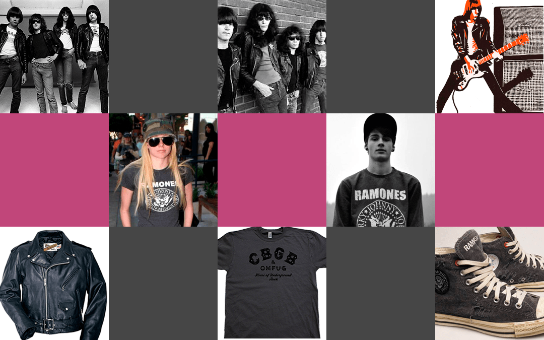 The 1970s The Ramones fashion lookbooks, heavy metal bubble gum