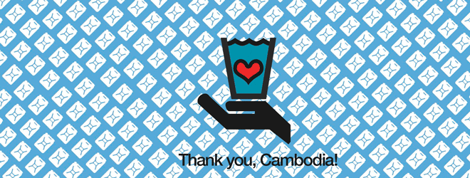 A video update from Cambodia Eco-bag fundraising campaign charity: water