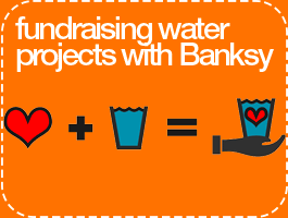 Fundraising Water Projects with Banksy Eco Tote Bags