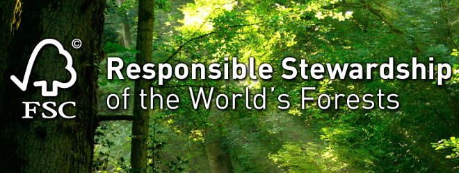 Forest's Stewardship Council Certified Wood (FCF)