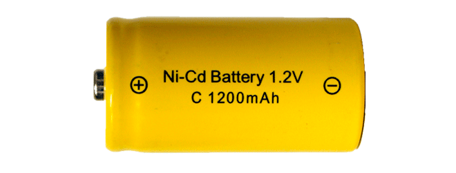 Nickel-cadmium (nicad) battery