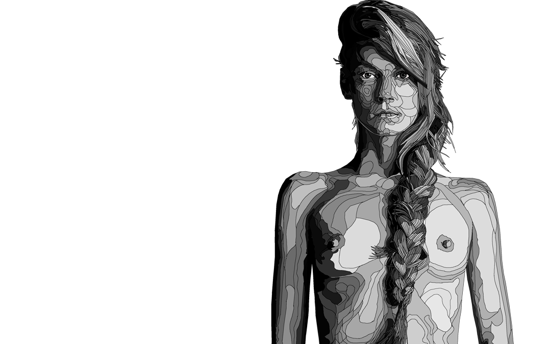 Angela Lindvall Fashion Models Illustration Series