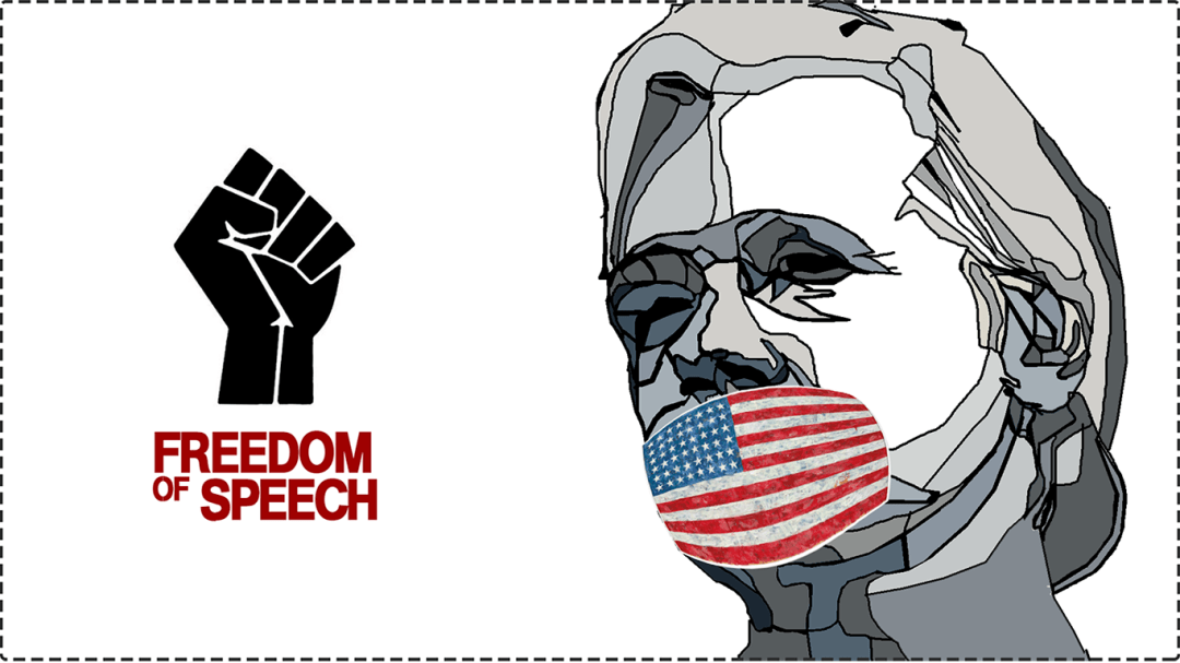 Assange arrest by the US breaks the constitution's first amendment and violates the foundation the nation was built upon. Graphics Kenneth Buddha Jeans