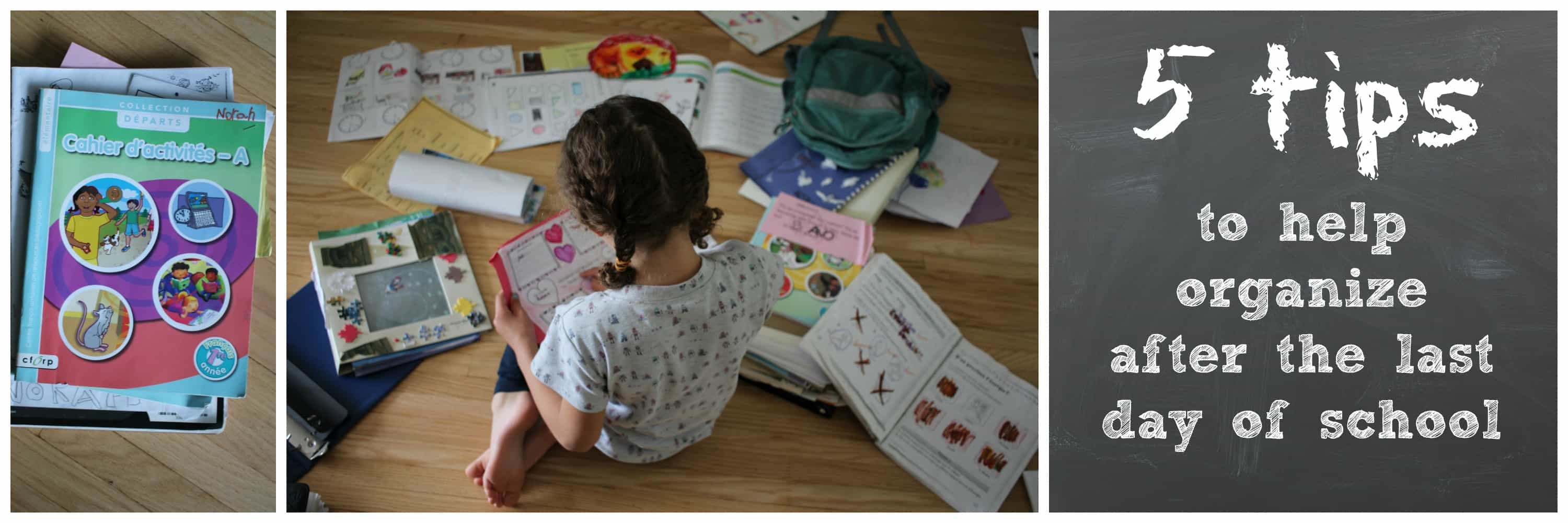 5 Tips To Organize Artwork On The Last Day Of School