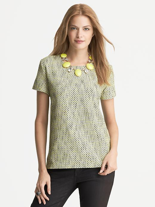 Banana Republic tweed front Tee