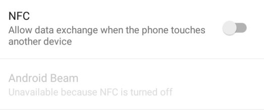 nfc turned off to save battery