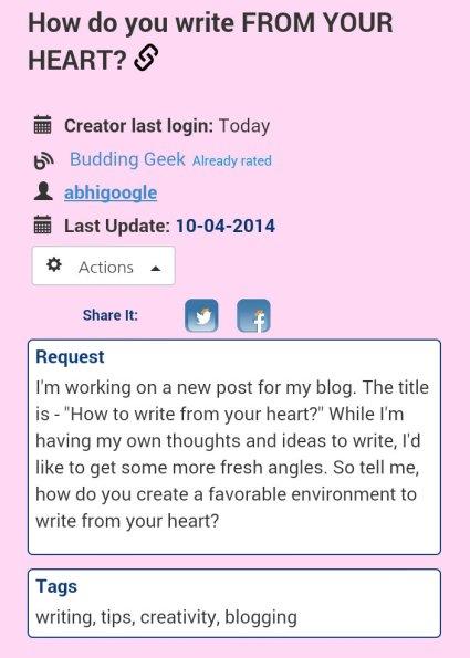 myblogu project - screenshot