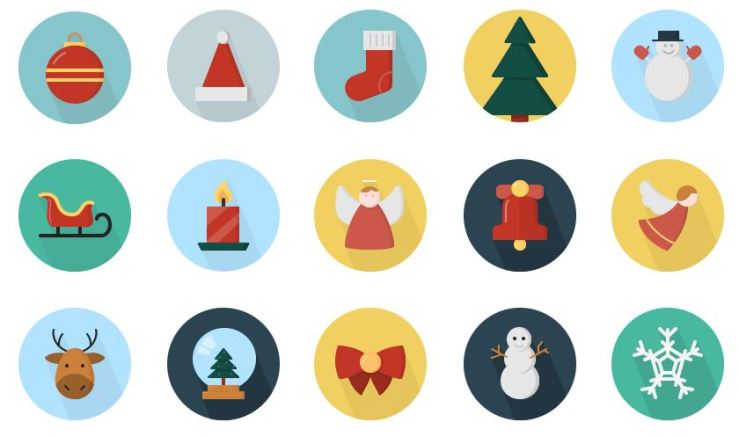 preview - christmas icons