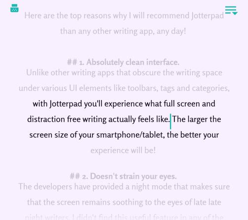 typewriter mode in jotterpad