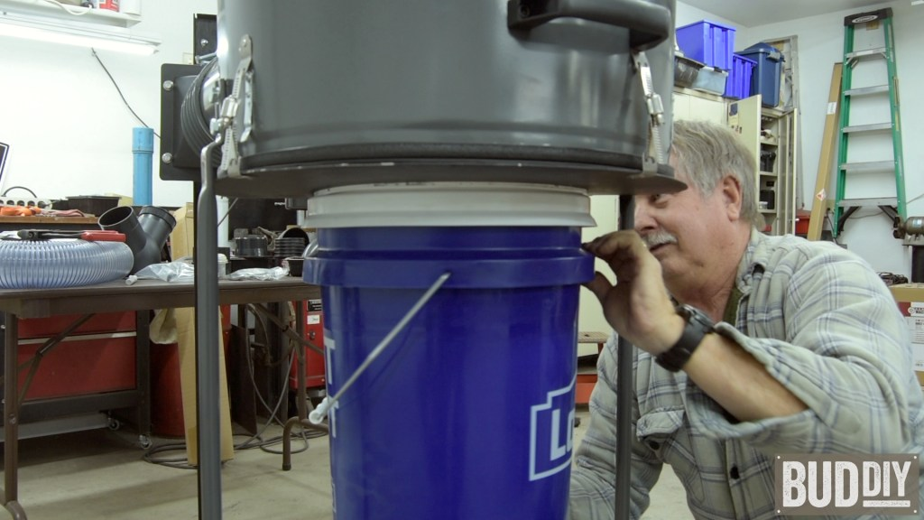 add overflow bucket to harbor freight dust collector