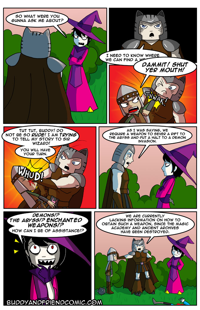 Yes. Let's just tell EVERYONE about enchanted weapons and demons!
