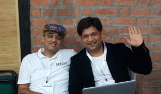 Rakesh Patel and Utpal Vaishnav (Co-founders, Space-O)