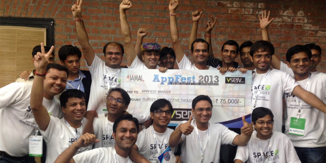 Space-O Technologies wins Hackathon in AppFest 2013 at IIM, Ahmedabad