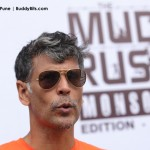 Milind Soman at The Mud Rush
