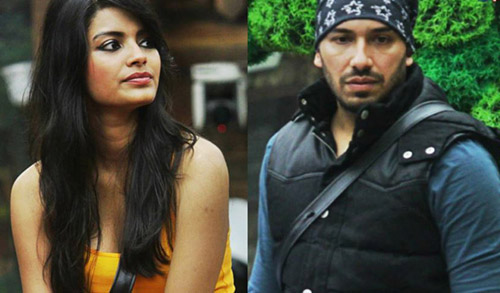 Sonali Raut and Ali Quli Mirza in Bigg Boss