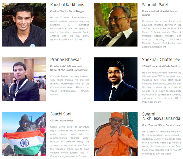 AIESEC Baroda Youth To Business Forum 2015 Speakers