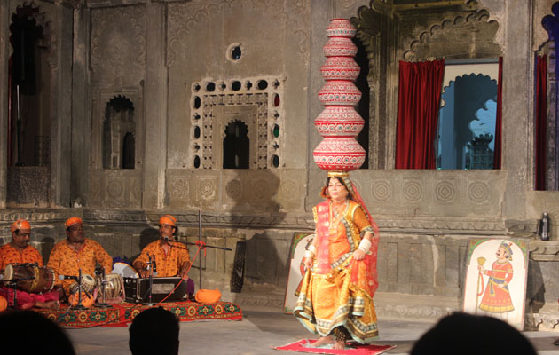 Bhavai - Dharohar Cultural Evening Program at Bagore Ki Haveli Udaipur