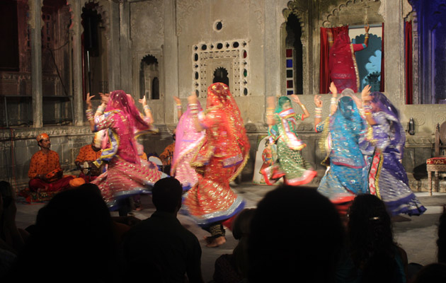 Gorbandh Dance - Dharohar Cultural Evening Program at Bagore Ki Haveli Udaipur