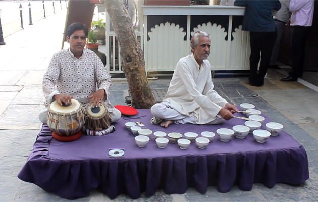 Watch How This Duo is Producing Music by Water Bowls!