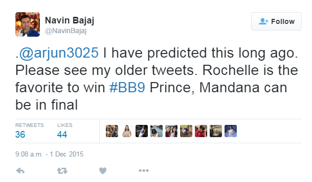 Navin Bajaj Bigg Boss 9 Prediction