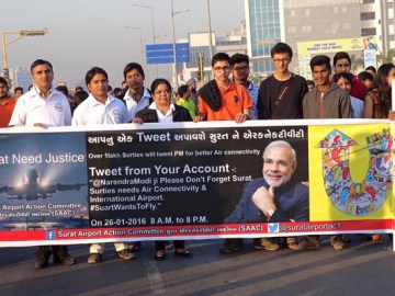 Surat asks Modi for Better Air Connectivity through Twitter!