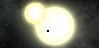 Largest planet discovered outside our Solar System that orbits Two Suns!