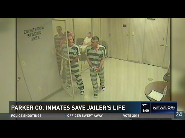 Prisoners broke out of the Jail to save a Guard's life
