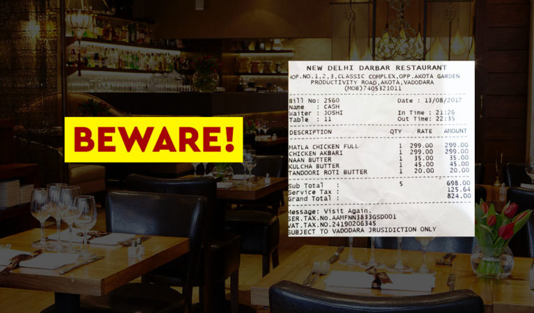 Here's How Restaurants Are Stealing From You in The Name Of GST