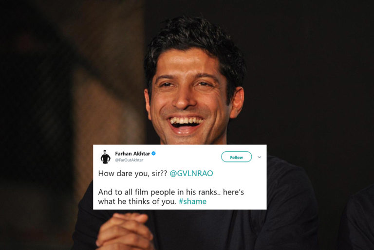 Farhan Akhtar Criticized BJP Spokesperson for His Remark On Film Stars's Low IQ & Twitter Showed Him Mirror!