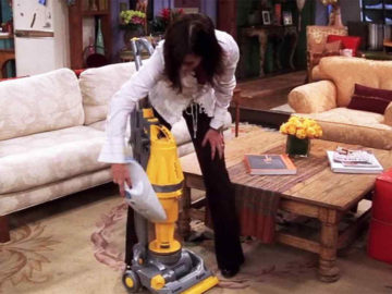 Monica Geller Cleaning Friends