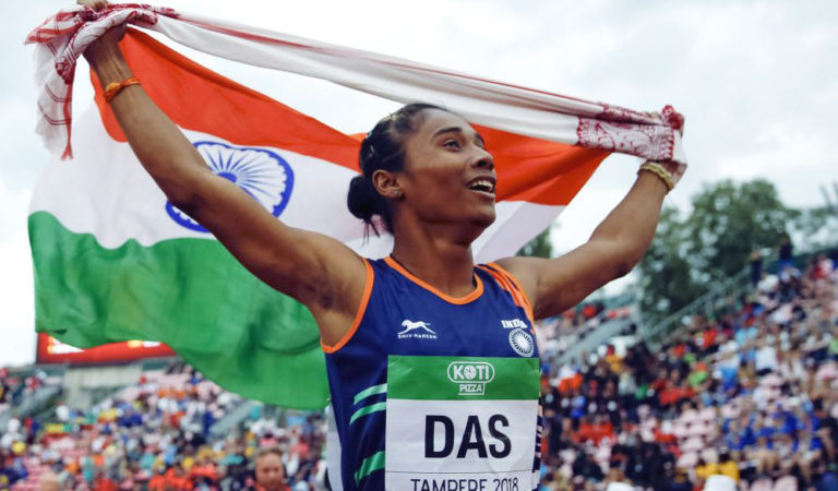 Hima Das Gets Emotional While The Indian National Anthem Plays, Video Goes Viral! Watch.