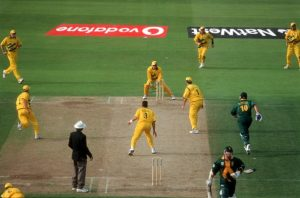 """""""Donald fails to make it and is run out & Australia win, Cricket World Cup 1999, Australia v South Africa at Edgbaston (Semi-final) 1995663 (Photo by Patrick Eagar/Patrick Eagar Collection via Getty Images)"""""""