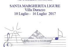 10-16 Luglio 2017 – 5° CORSO ESTIVO DI STRUMENTO – Villa Durazzo