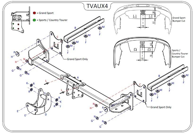 Tow Bars Towbar for Vauxhall Insignia Sports Tourer Estate