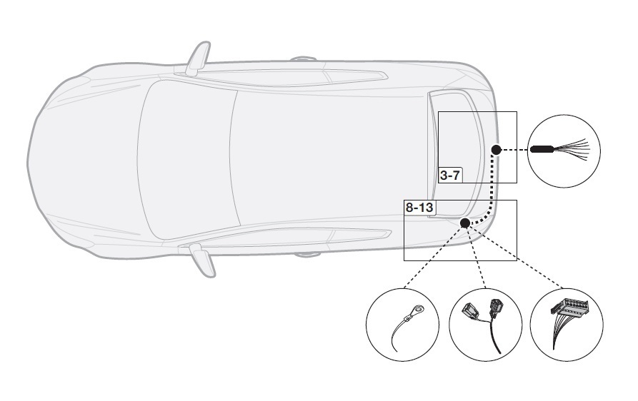 Volvo XC60 11/2008 to 06/2017 7 pin Dedicated Tow Bar