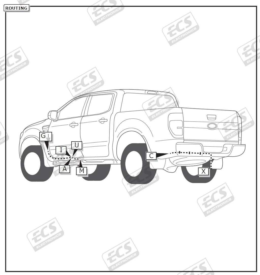 Ford Ranger Tow Bar Wiring 2016 > 2020 7 Pin DEDICATED