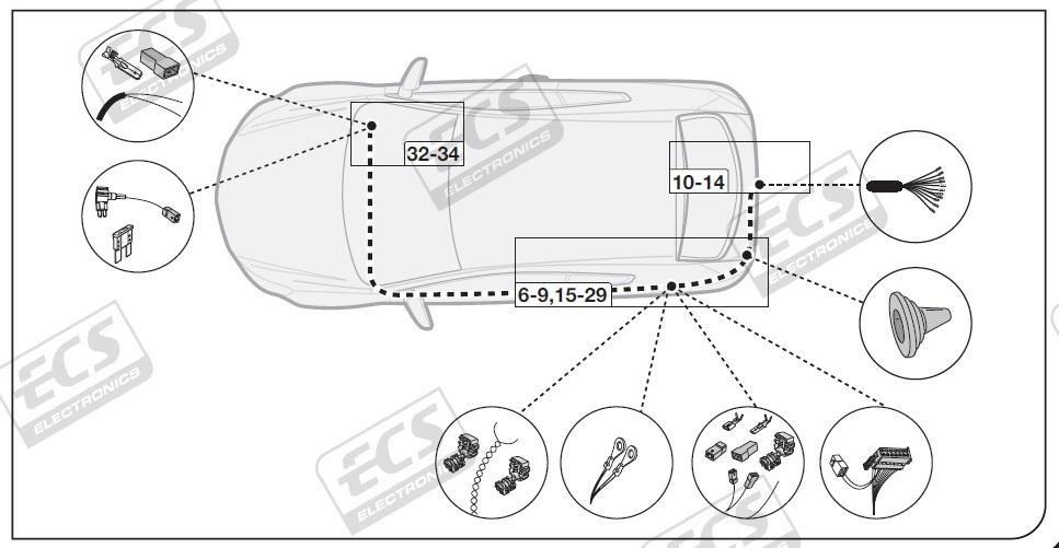 Kia Pro C'eed 2017 to 2020 13 pin DEDICATED Towing Electrics