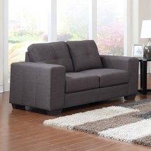 kingsley luxury fabric 2 seat sofa