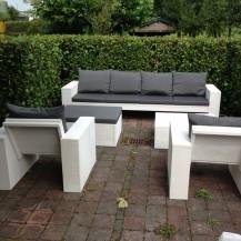 Tuin en terras  Steigerhouten meubels voor buiten