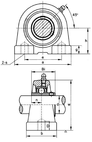 UCPA201 Threaded Base Small Footprint Metric Pillow